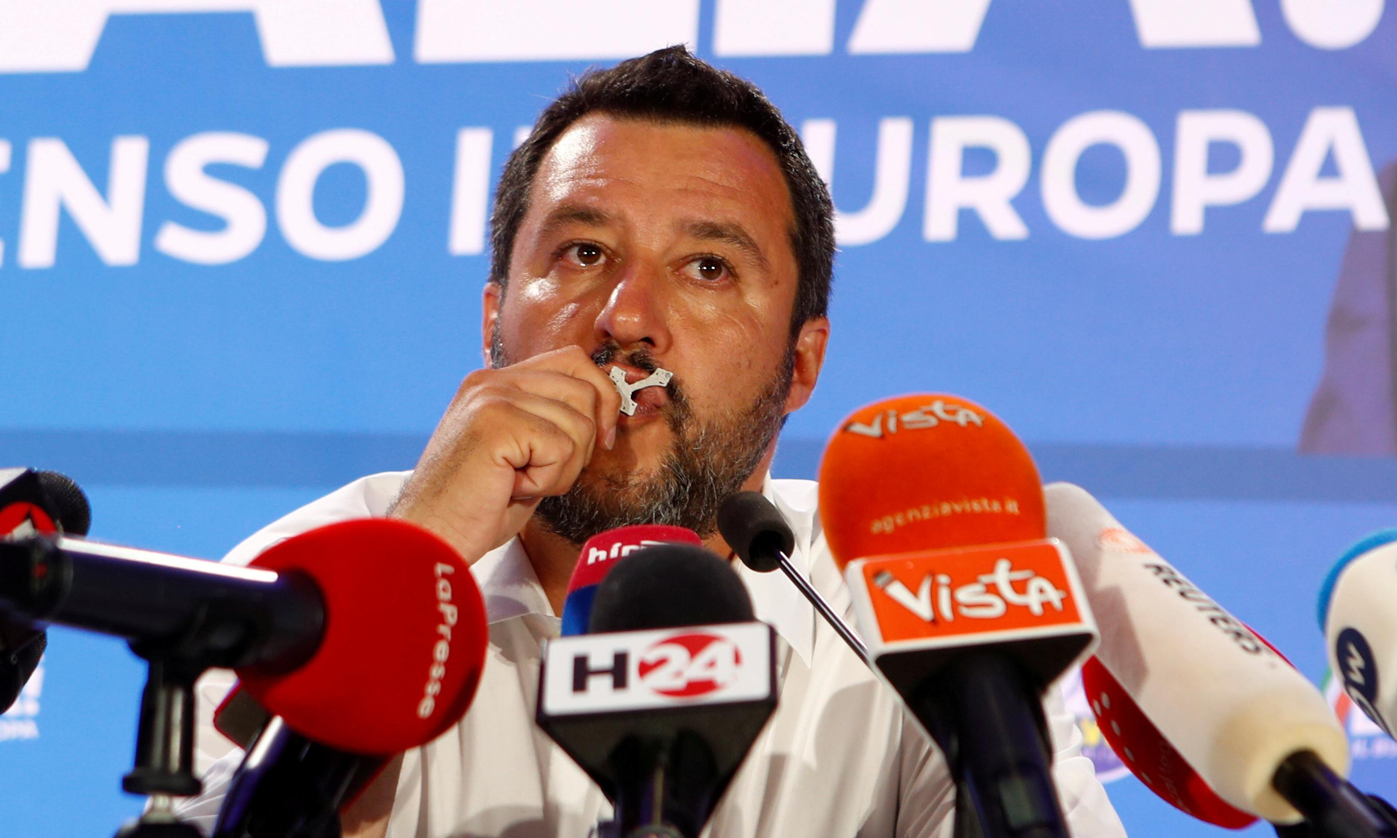 Salvini's far-right party tops Italy's EU election polls