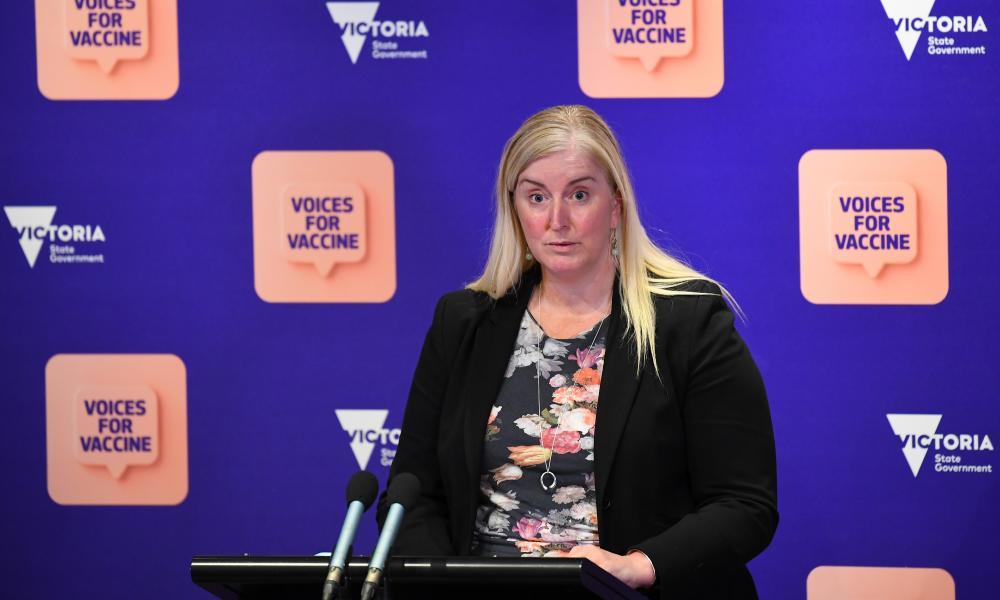 Paediatric rheumatologist Jane Munro speaks to the media in Melbourne, Friday, 8 October 2021.