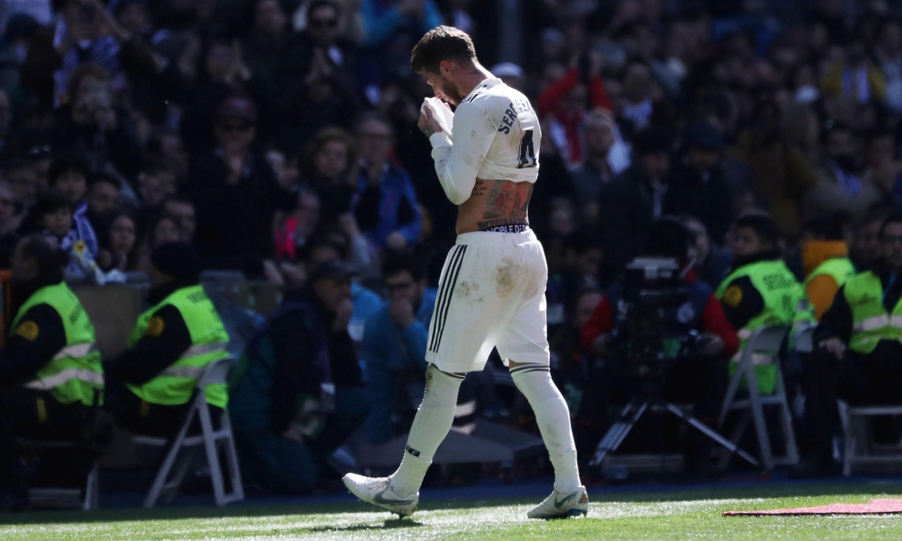 Sergio Ramos sent off as Real Madrid's resurgence is ended by Girona