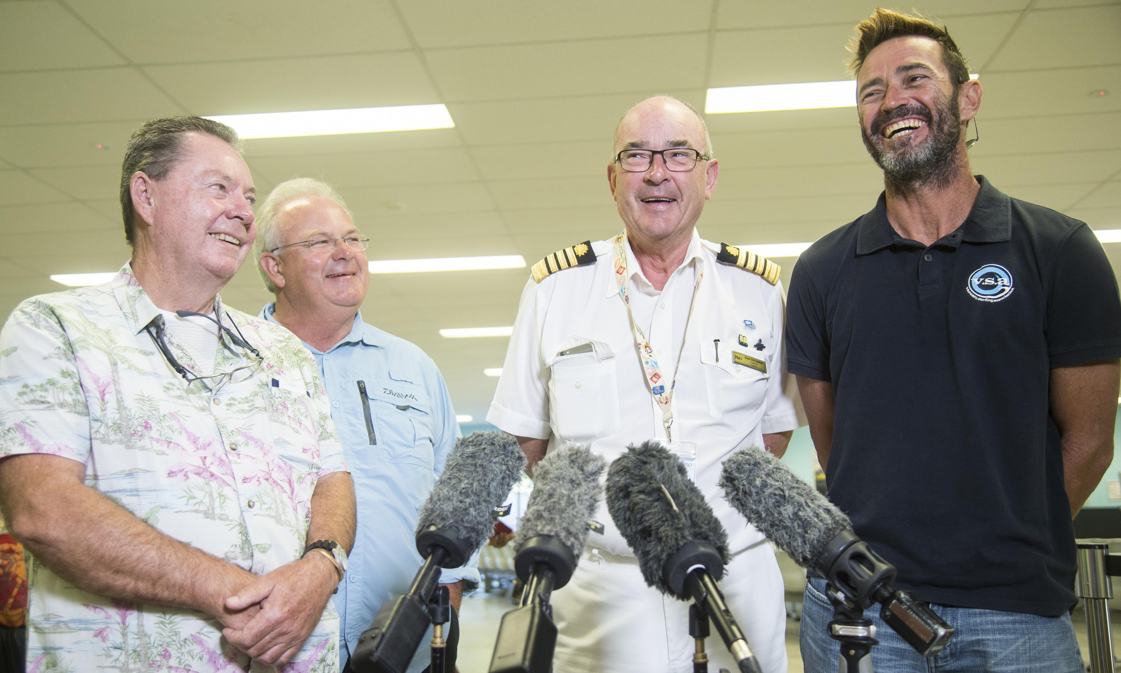 Sailing trio voice relief after P&O cruise ship rescue in South Pacific