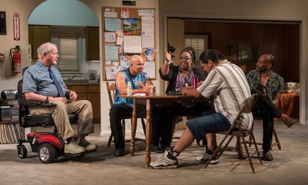Francis Guinan, Glenn Davis, Cecilia Noble, Eddie Torres and K Todd Freeman in Downstate.