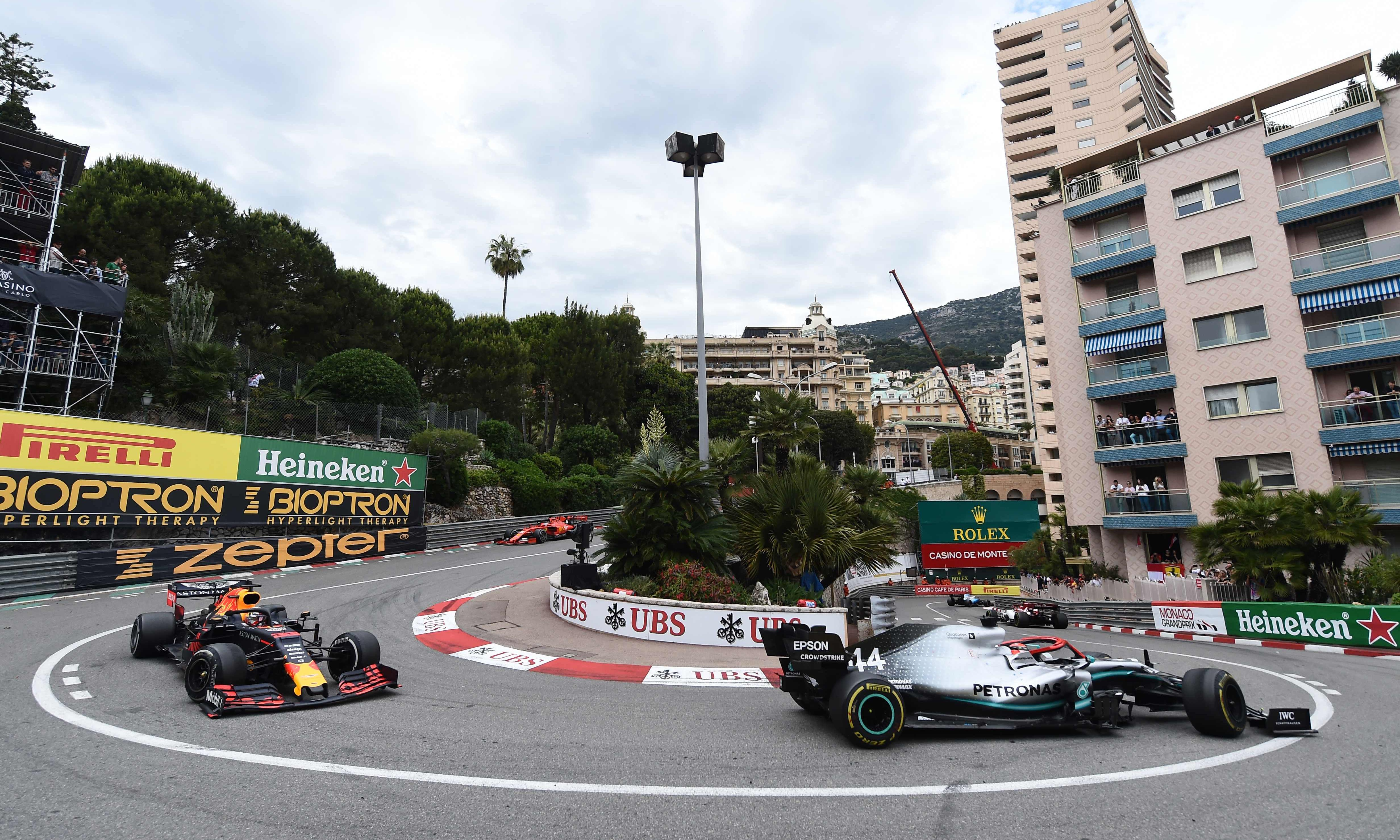 Lewis Hamilton holds Max Verstappen at bay to win Monaco Grand Prix