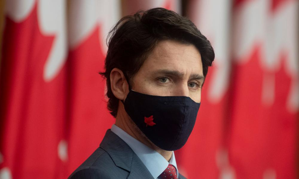 Canadian prime minister Justin Trudeau in Ottawa yesterday.