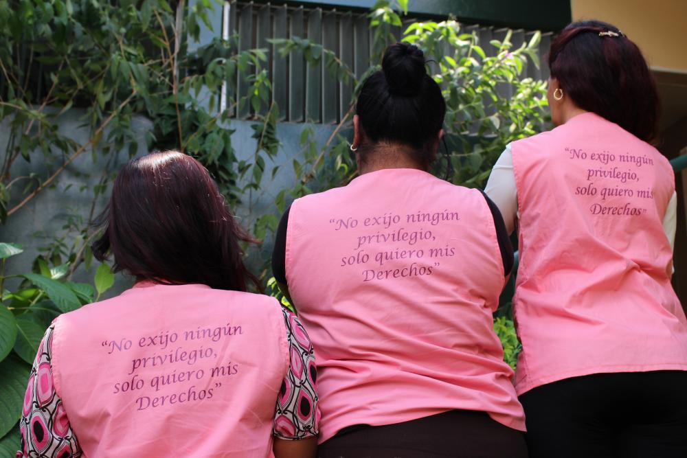 Sex worker rights defenders from Colectiva Venus in San Salvador