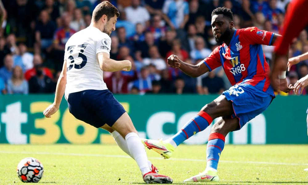 Crystal Palace's Odsonne Edouard scores their second goal.