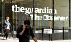 The Guardian Newspaper office on York Way, north London.