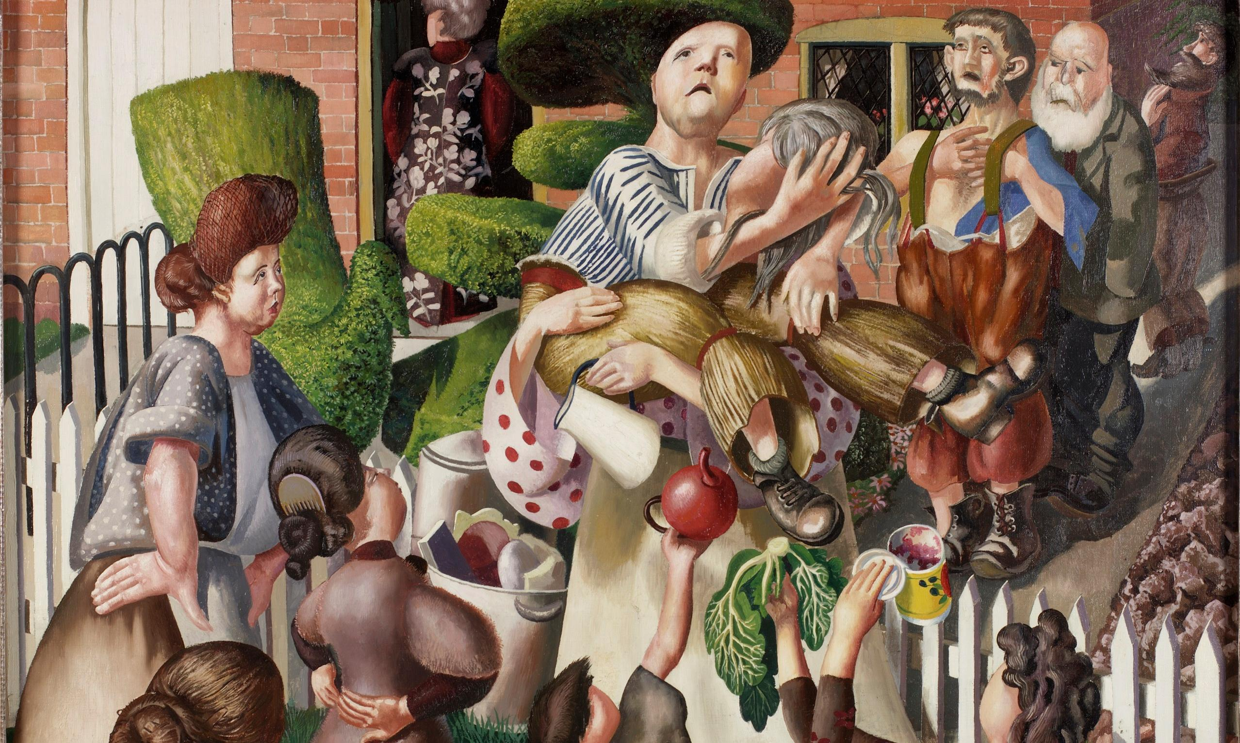 Stanley Spencer's The Dustman or The Lovers: a suburban fantasy