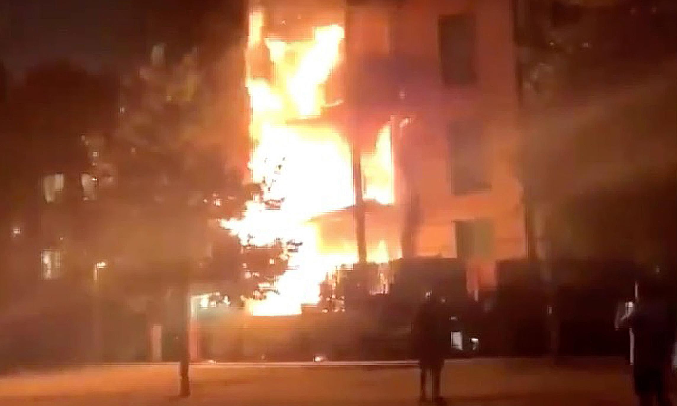 Hackney fire: dozens of firefighters tackle blaze in east London