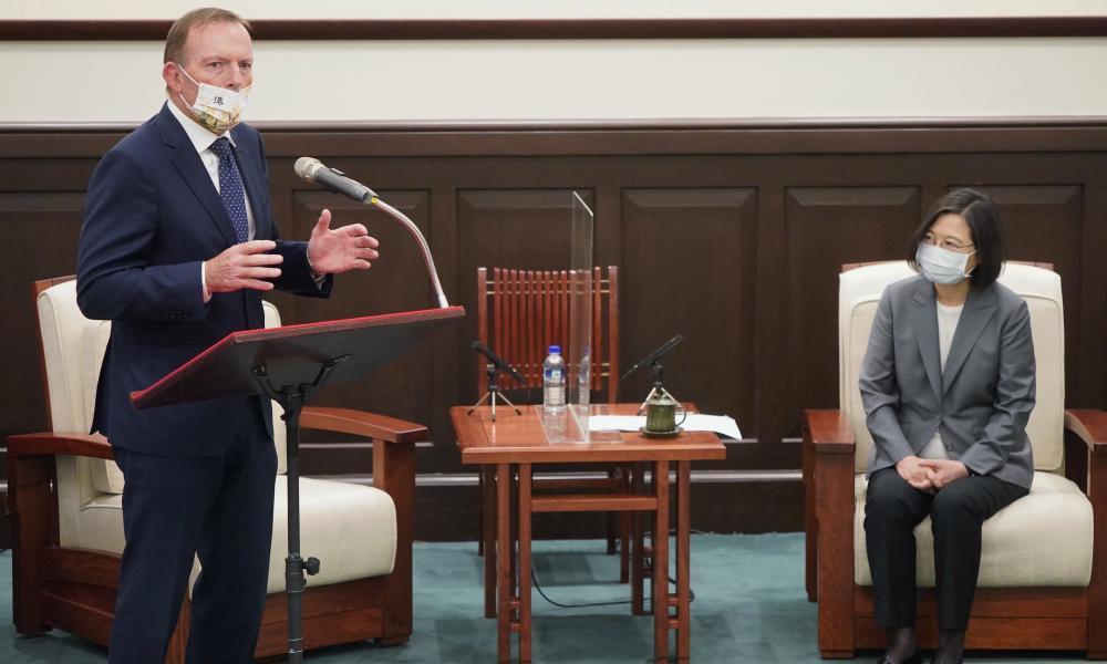 Tony Abbott and Tsai Ing-wen