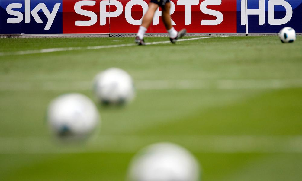 Sky Sports Television At Premier League Games