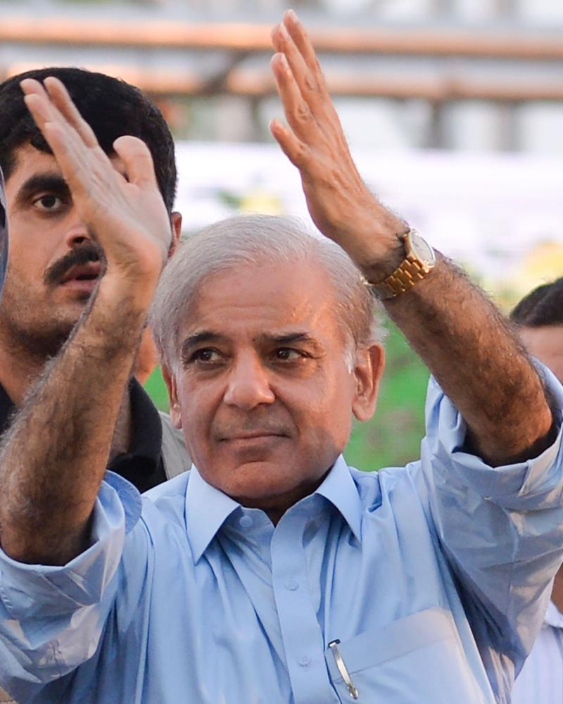 Shehbaz Sharif, the younger brother of ousted Pakistani prime minister Nawaz Sharif and head of Pakistan Muslim League-Nawaz.
