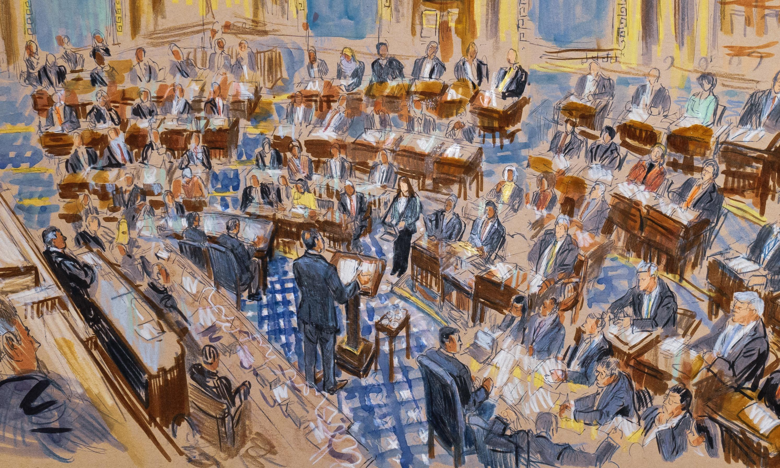 Naps, candy, paper planes: how senators are tolerating the impeachment trial