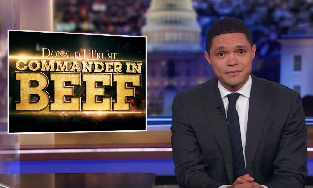 Trevor Noah: as Congress investigates, 'Trump is launching his middle finger'