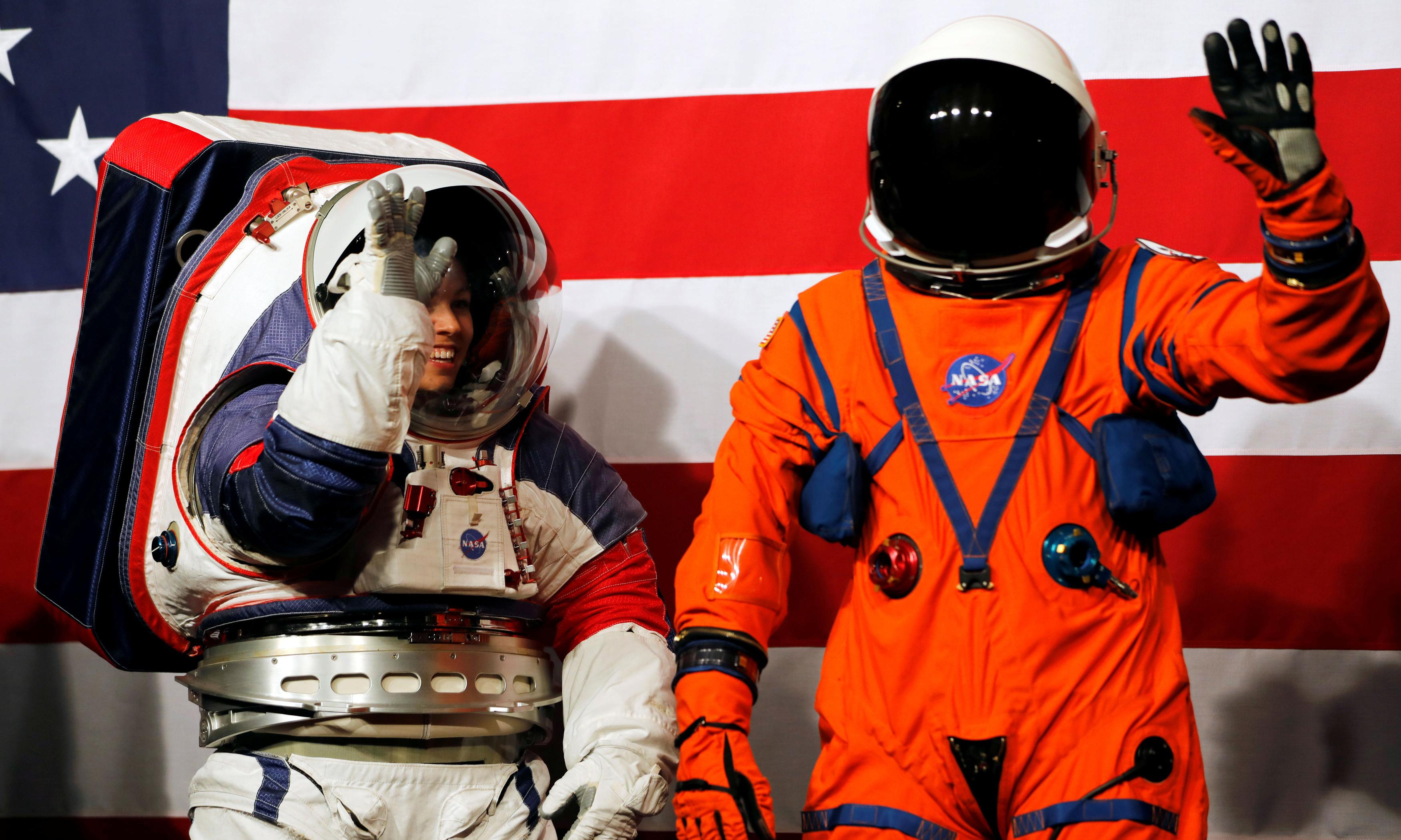 Nasa unveils spacesuits to be worn by first woman on the moon