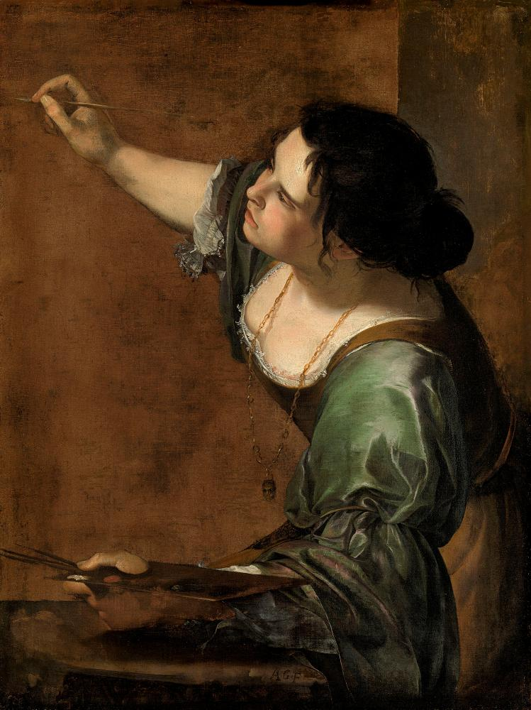 Artemisia Gentileschi's Self-portrait as the Allegory of Painting (La Pittura), c.1638-9.