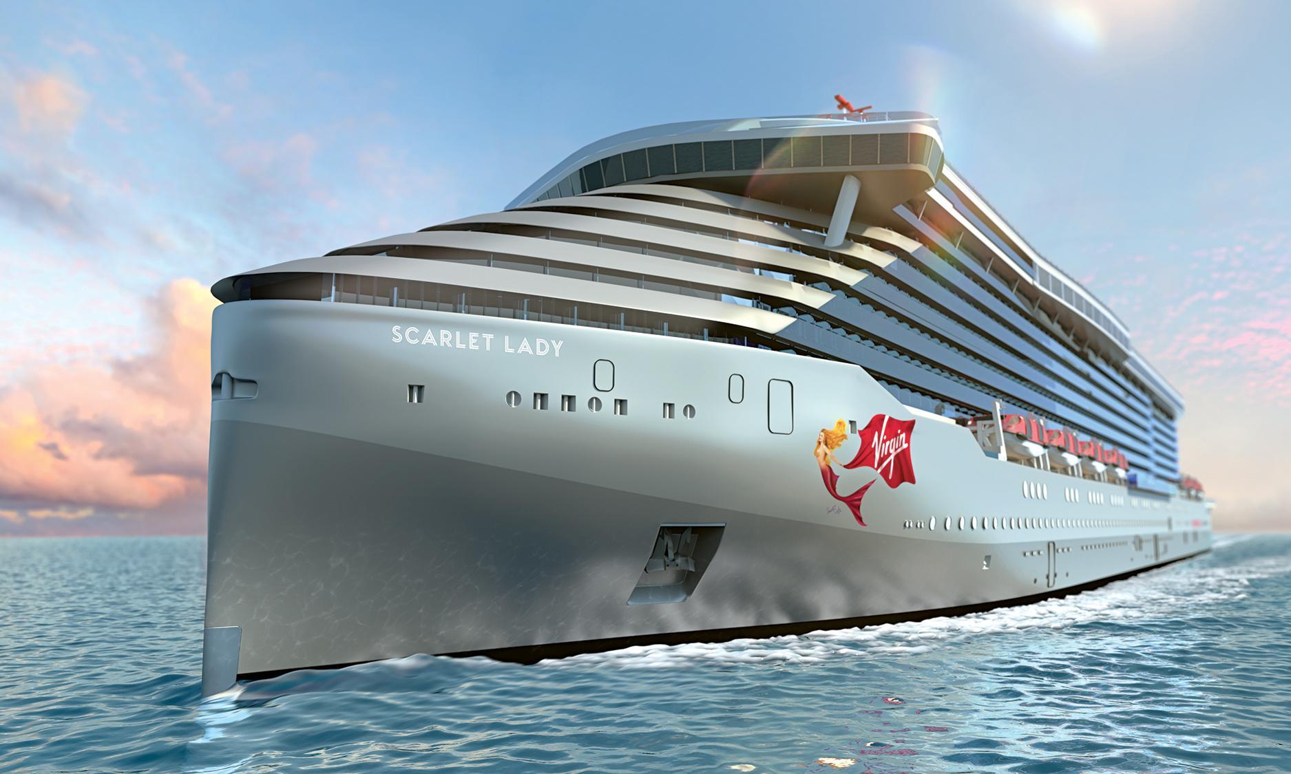 Branson unveils first cruise ship as he shrugs off coronavirus fears