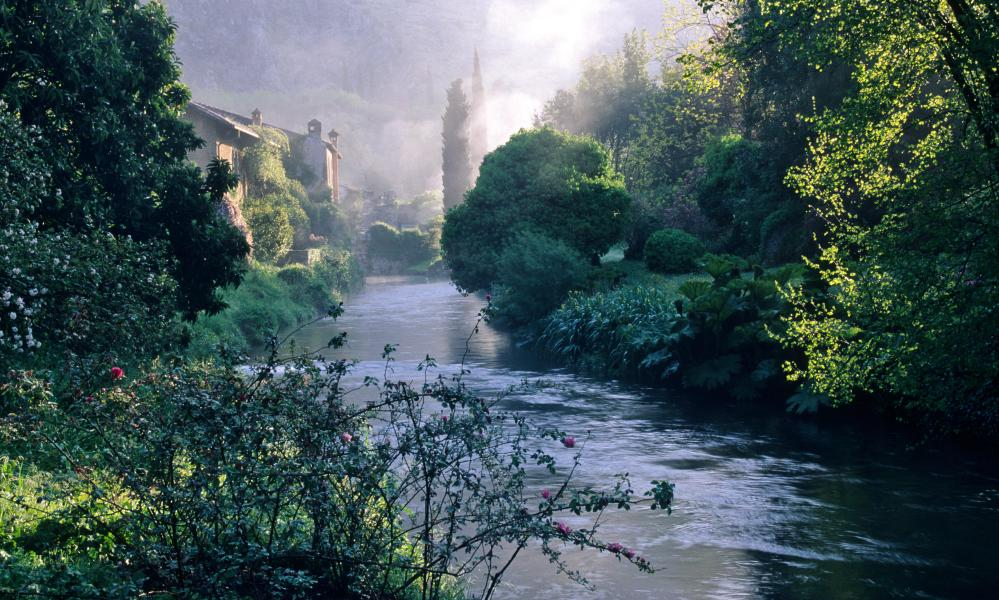 Ninfa gardens south of Rome, Italy.