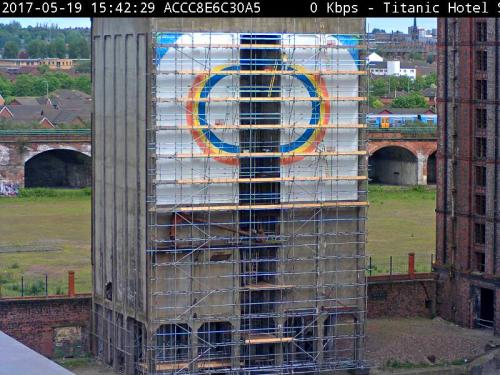 Webcam footage of the work in progress.