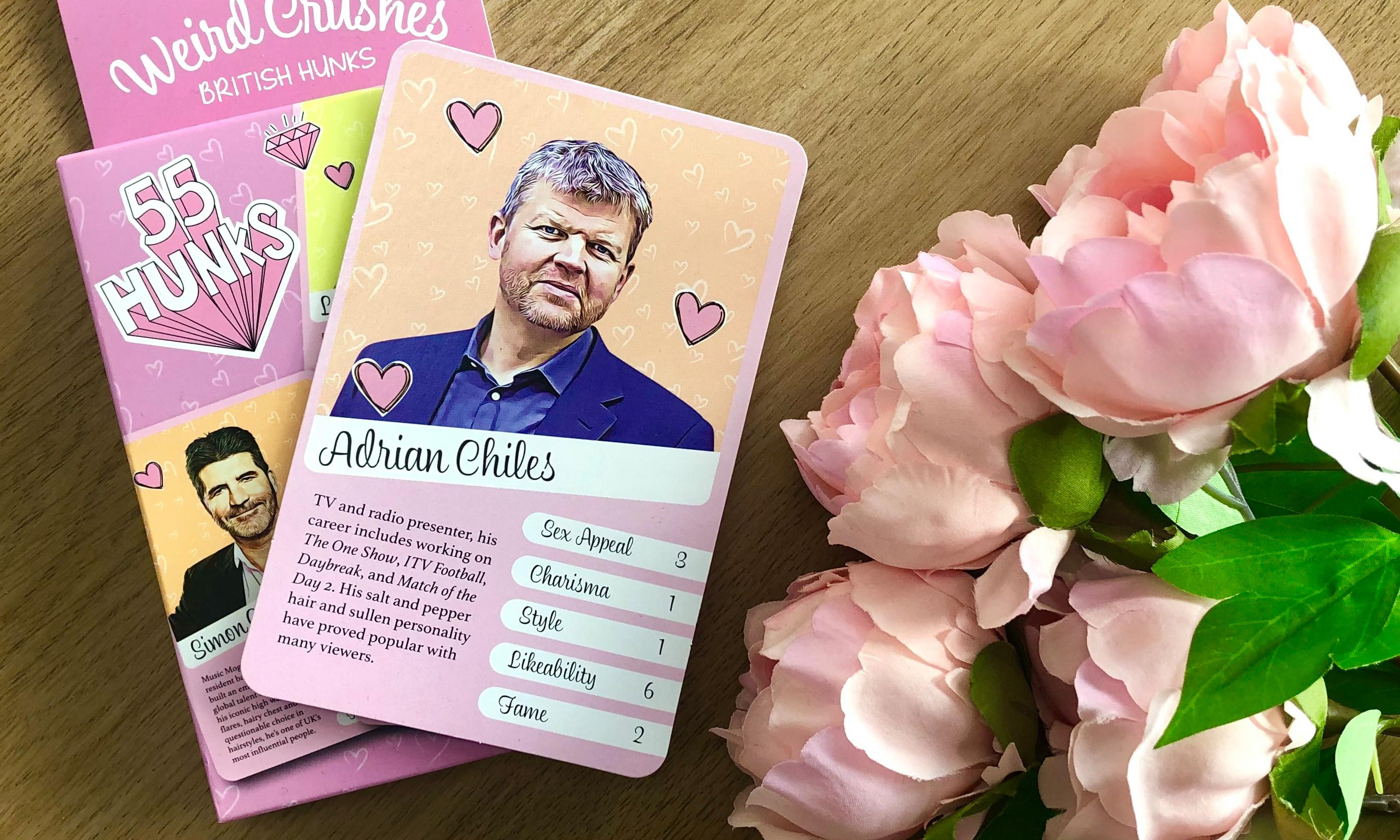 I should be proud to feature in a set of hunky Top Trumps – but my scores are terrible