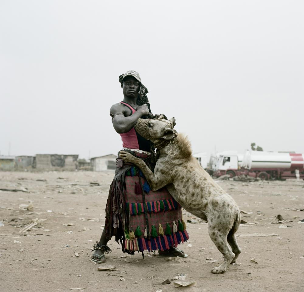 One of the 'hyena handlers' that Pieter Hugo met in Nigeria, from his series Hyena and Other Men.