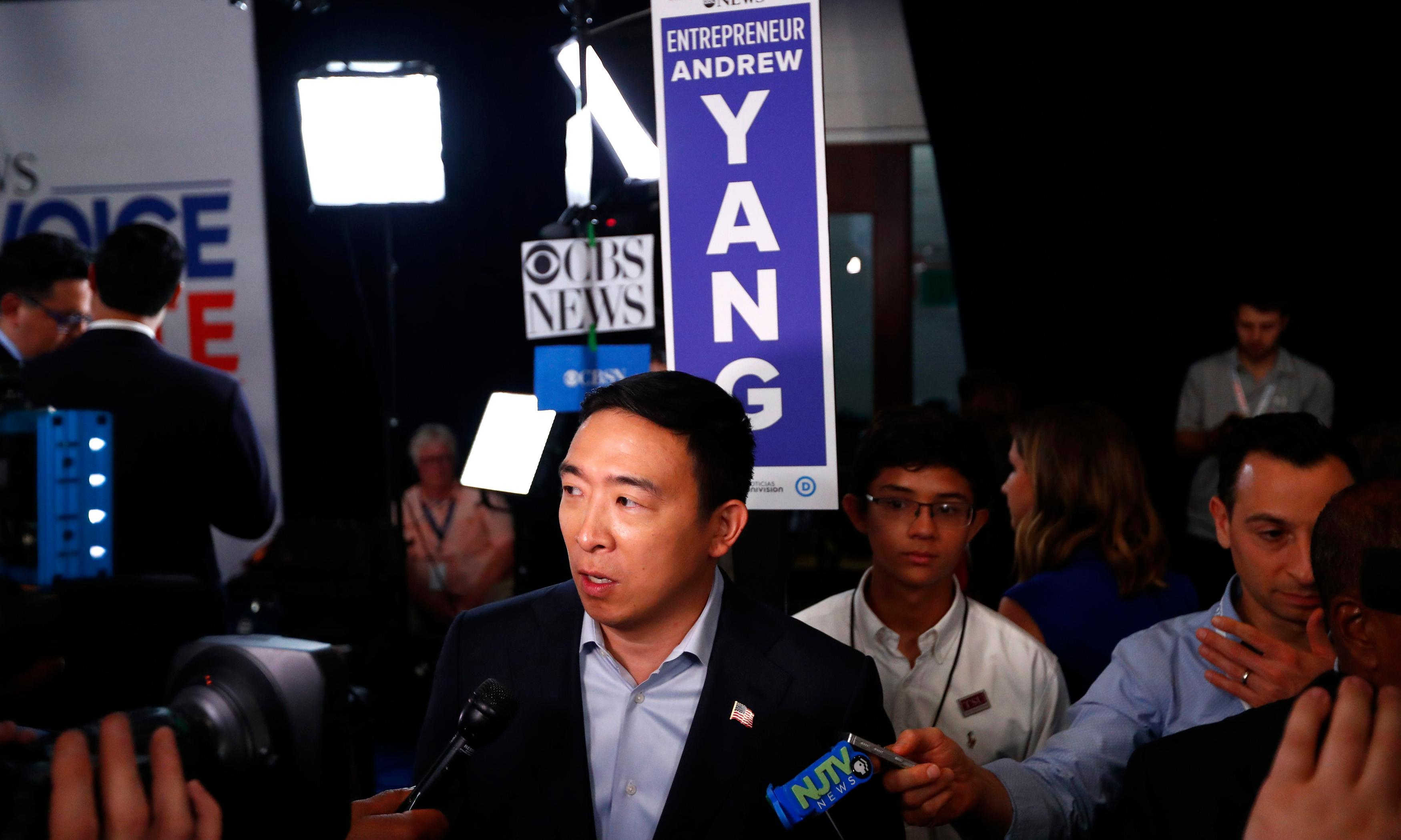 Andrew Yang: racist comment by SNL hire 'should be taken in different light'