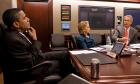 William J Burns meeting with President Obama and Secretary of State Hillary Clinton in the White House Situation Room on September 29, 2009, in advance of P5+1 negotiations with Iran.
