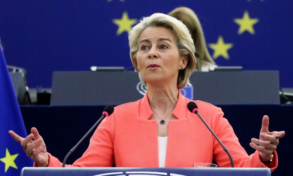 Ursula von der Leyen speaking in Strasbourg