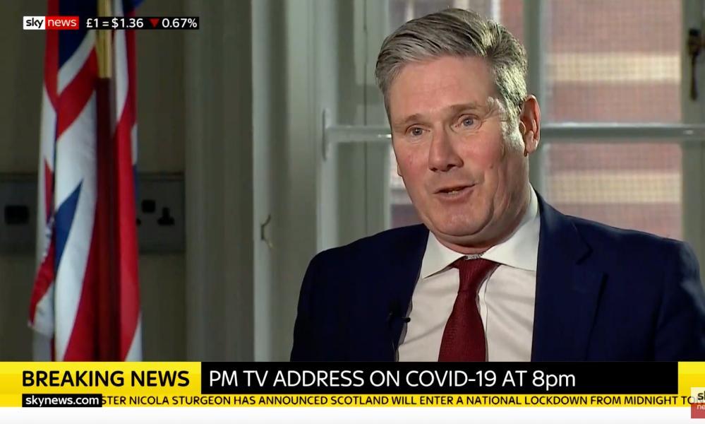 Keir Starmer on Sky News this afternoon.