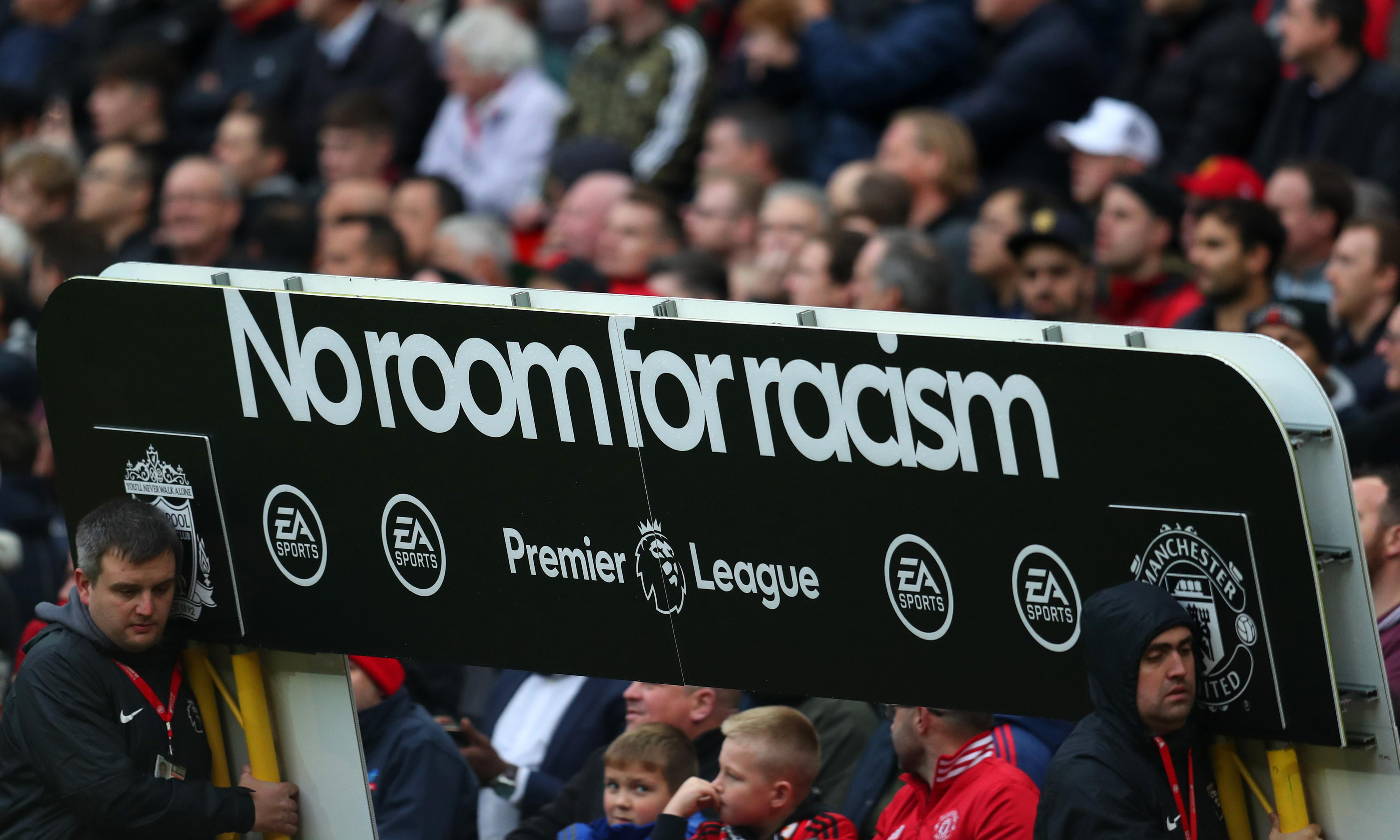 Fan ejected for alleged racist abuse at Manchester United v Liverpool