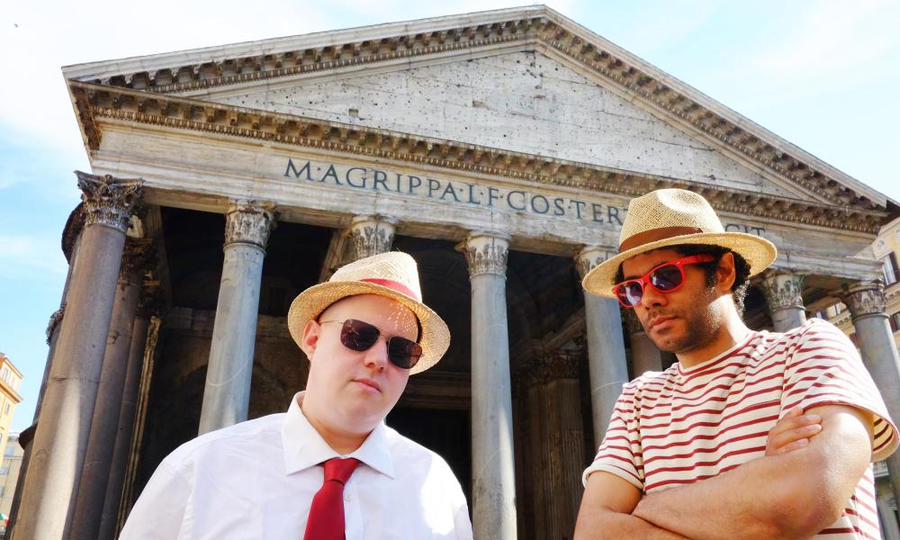 Brain-exfoliating … Matt Lucas and Richard Ayoade in Rome on an episode of Travel Man: 48 Hours In…
