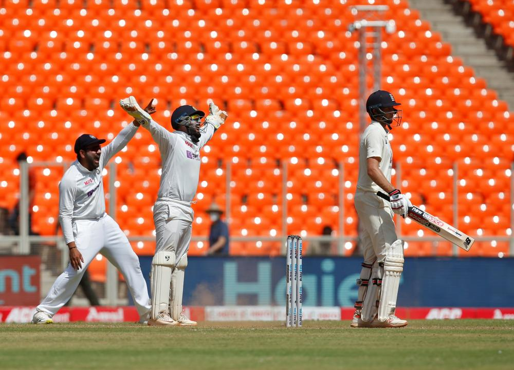 Successful appeals for Joe Root's wicket.