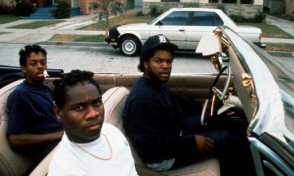 Ice Cube, far right, in Boyz N the Hood.