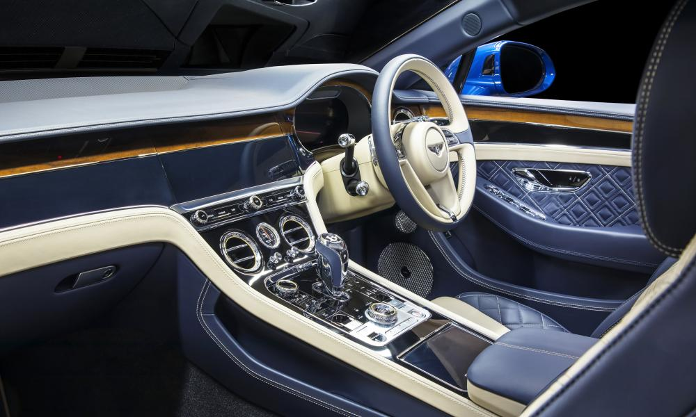 Inside story: the lavish interior of the Continental GT.