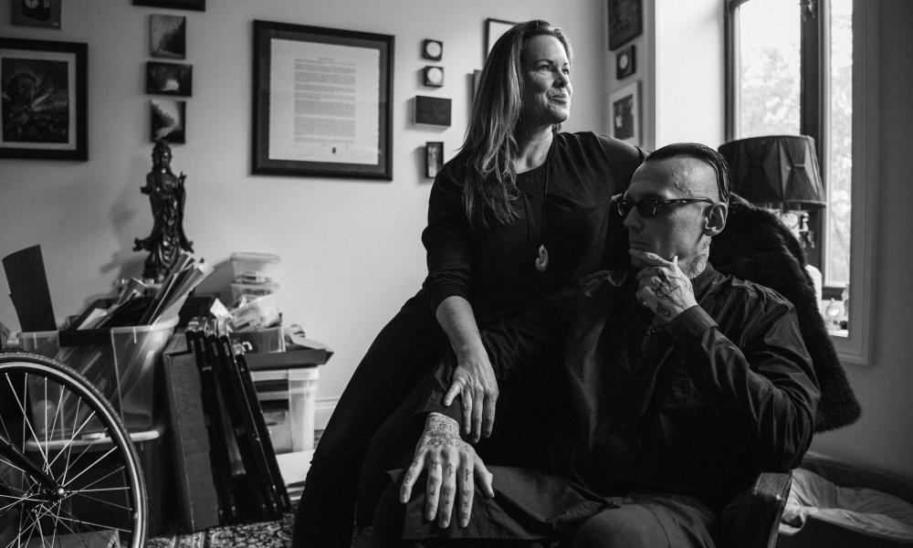Damien Echols and Lorri Davis at home.