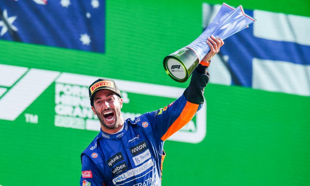 Daniel Ricciardo celebrates