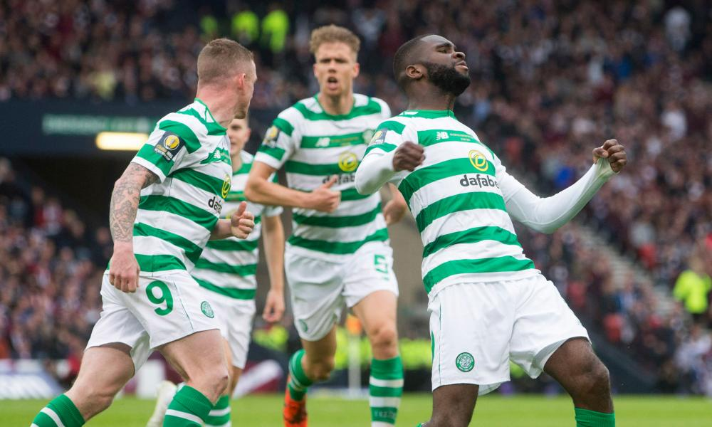 Celtic's Odsonne Edouard celebrates scoring his side's first goal