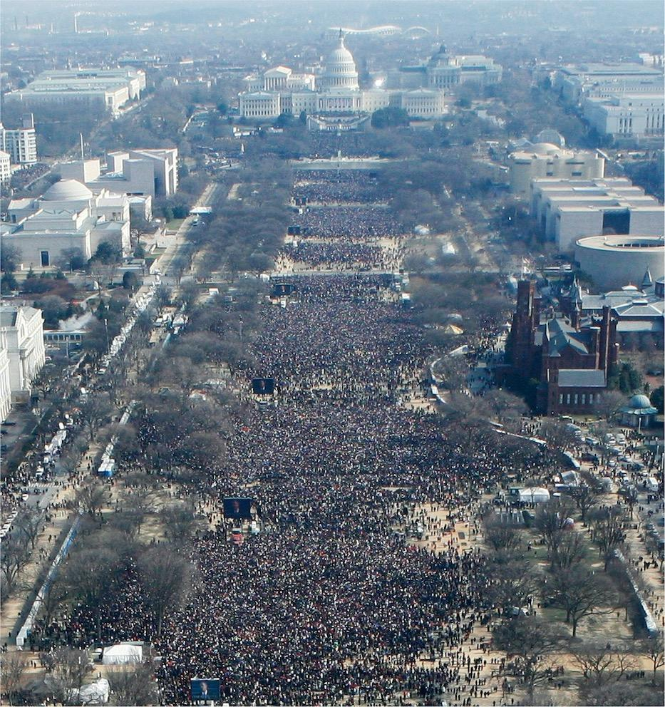 Trump's inauguration crowd: Sean Spicer's claims versus the ...
