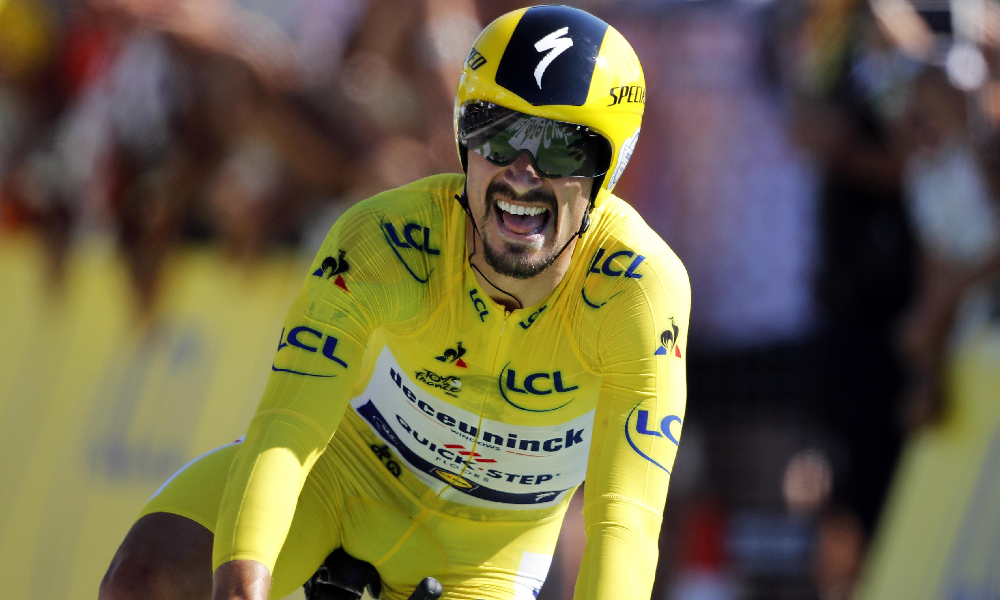 Alaphilippe extends Tour de France lead over Thomas with stunning time-trial win