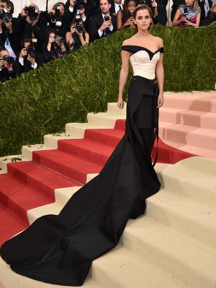 Emma Watson attends the Met gala last year.