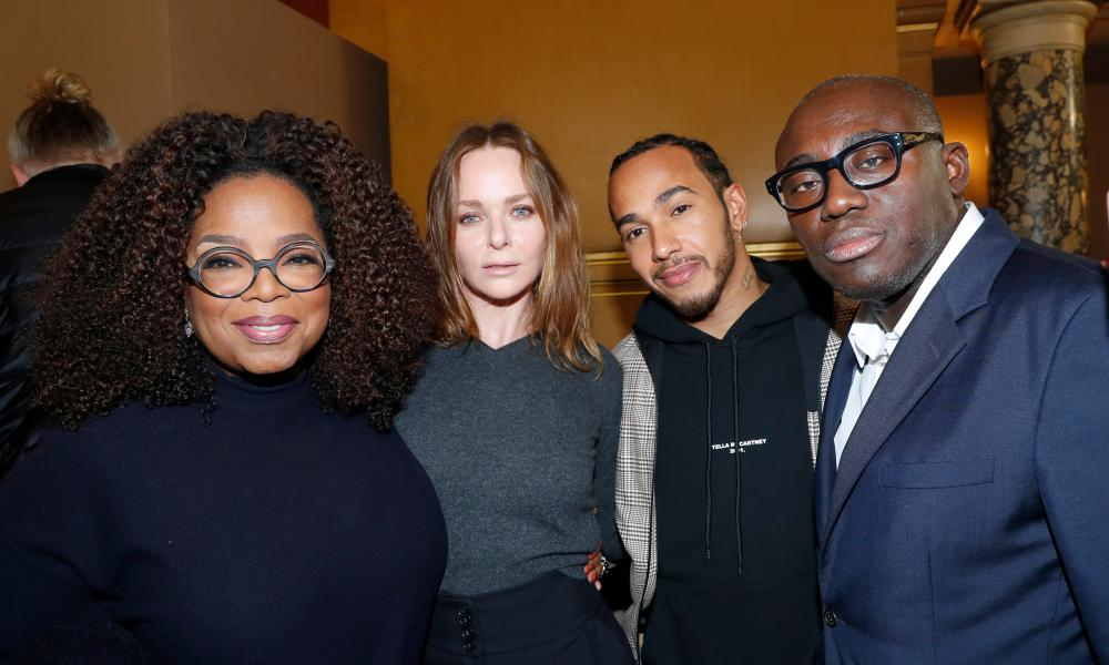 From left: Oprah Winfrey, Stella McCartney, Lewis Hamilton and Edward Enninful, the editor-in-chief of British Vogue.
