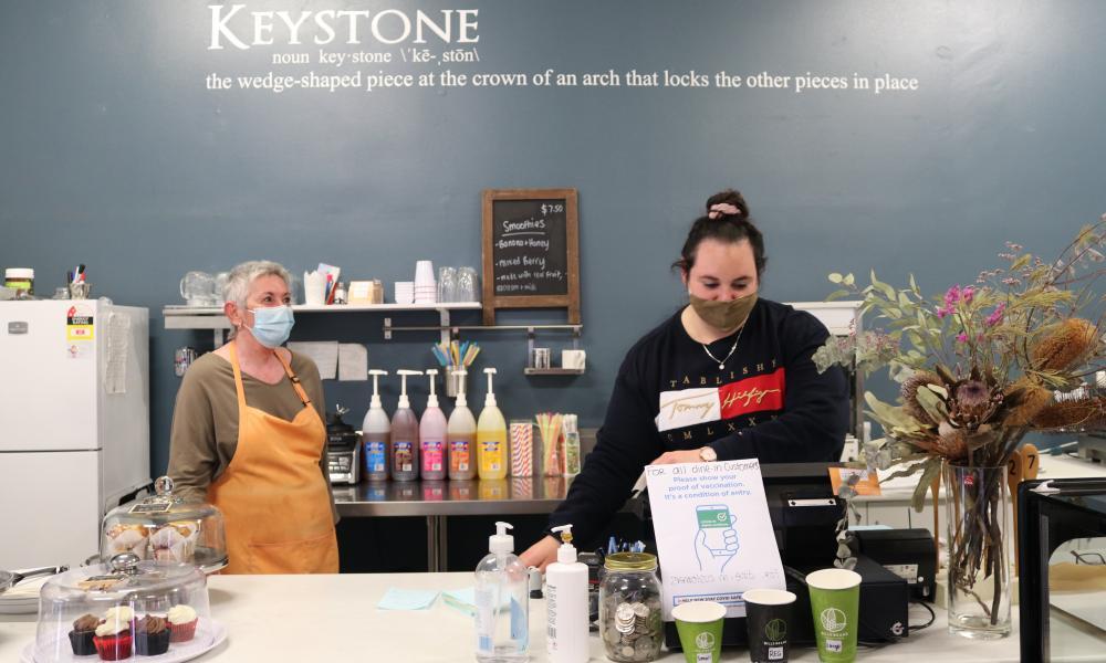 Sharon Olaya, the owner of Keystone Cafe in Gilgandra