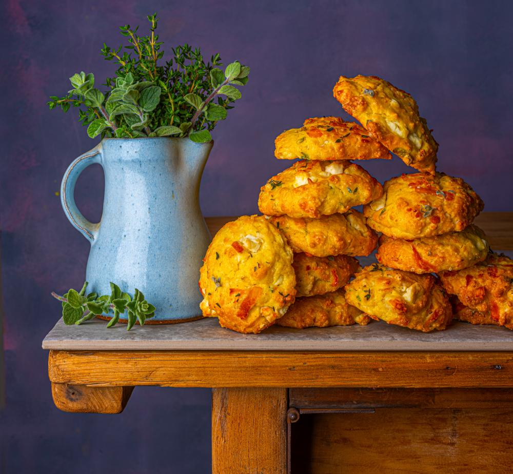 Za'atar and halloumi scones, by Reem Kassis. Food styling: Henrietta Clancy