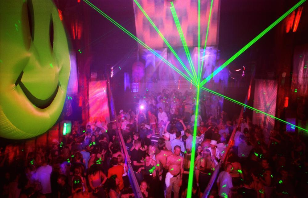 Anarchy and joy … a crowded dance floor.