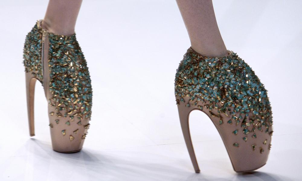 Defiantly non-sexy ... Alexander McQueen's Armadillo shoes from 2010.