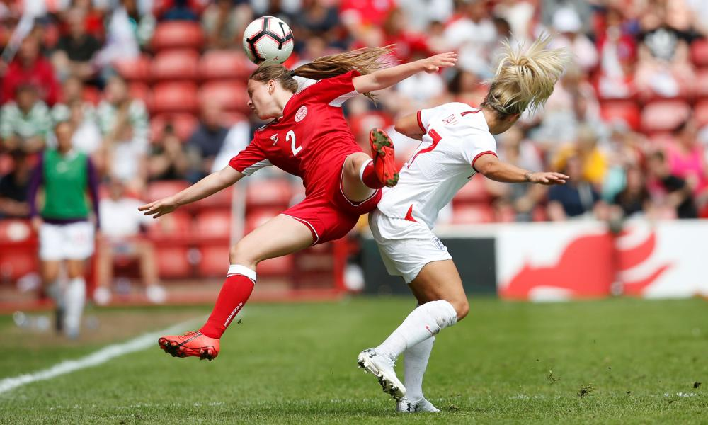 Denmark's Emma Snerle in action