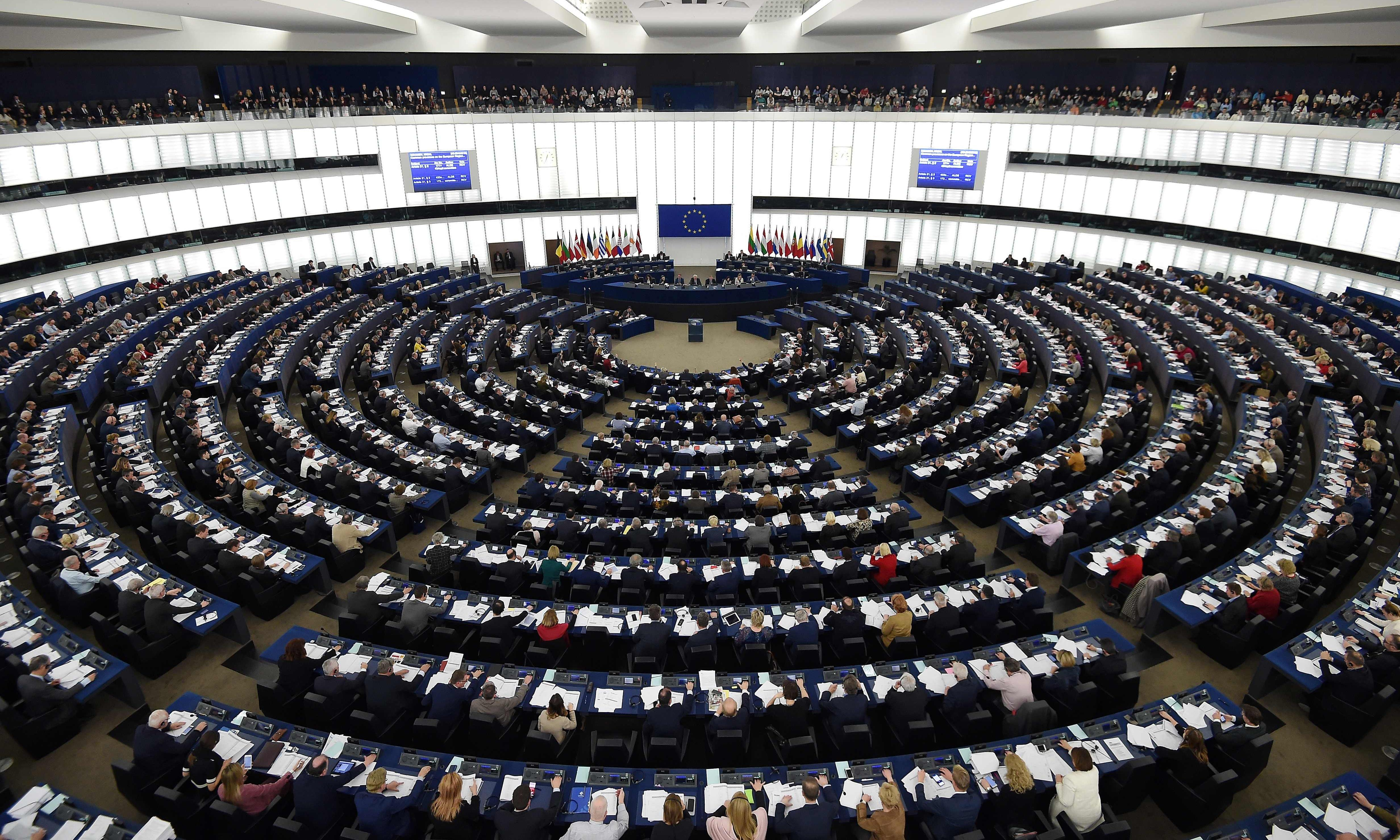 EU parliament's centrist coalition set to lose majority, poll finds