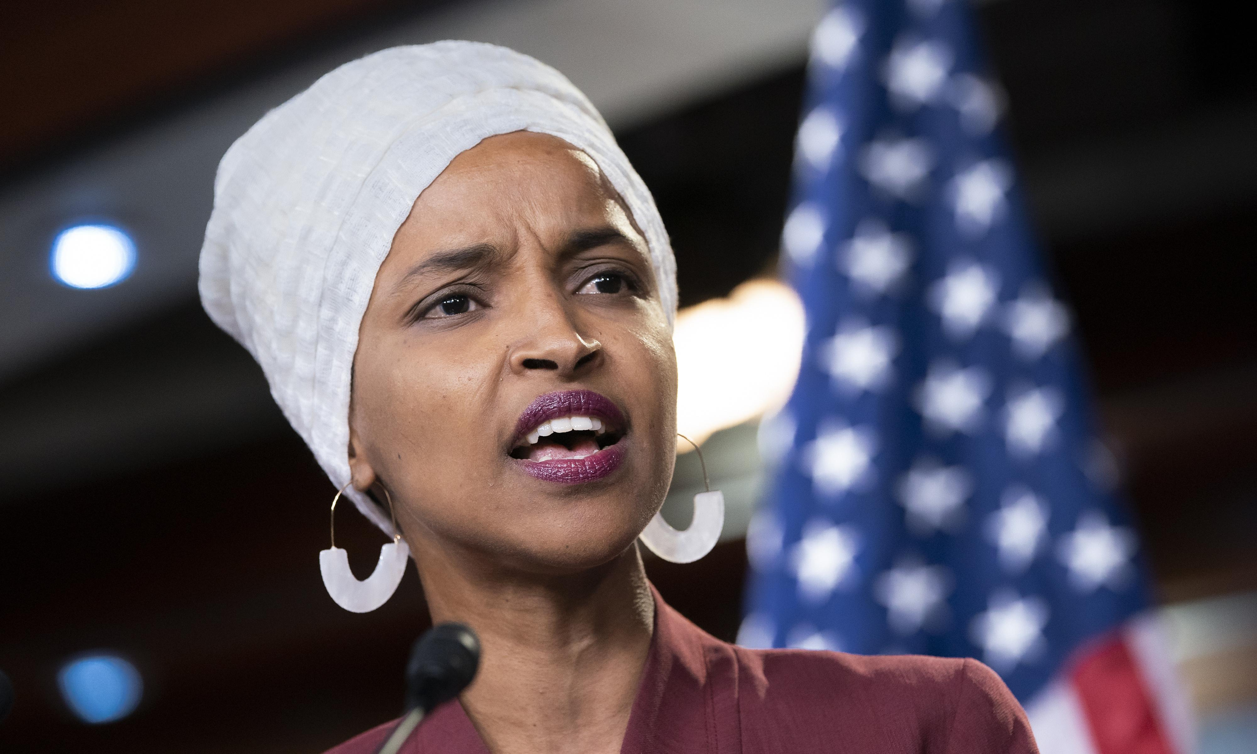 Ilhan Omar condemns Trump for spreading 'lies that put my life at risk'