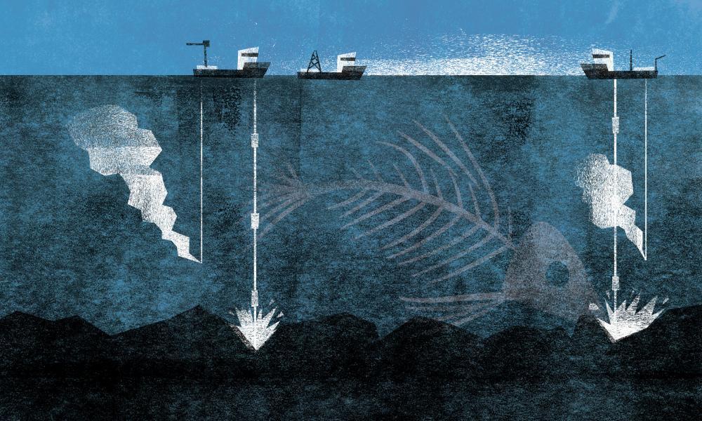 Deep-sea mining illustration
