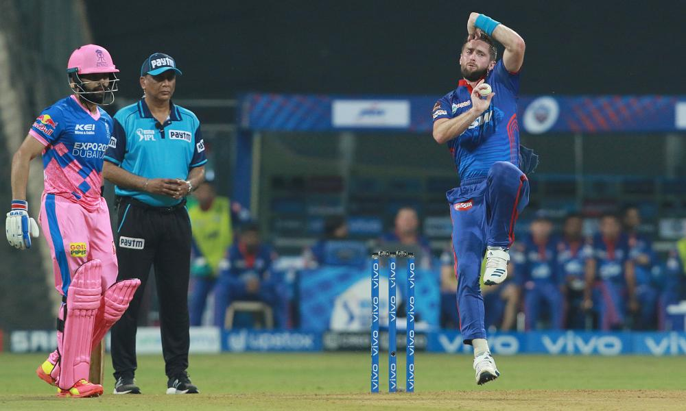 Chris Woakes bowls for the Delhi Capitals back in May, but the England all-rounder is one of a number of players who will not feature in the rescheduled finish to the IPL.