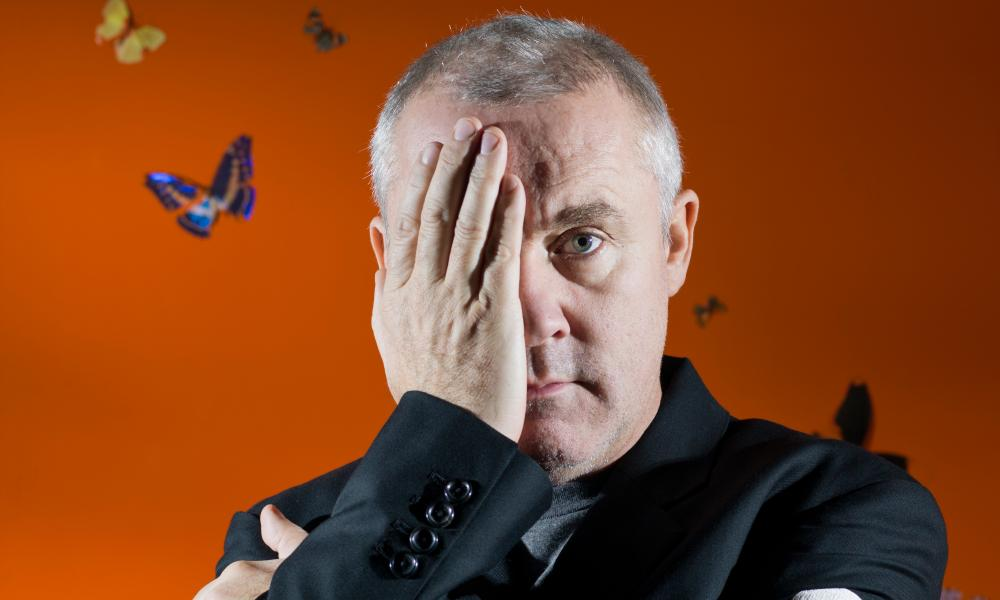 Artist Damien Hirst photographed at his London offices for the Observer by Pål Hansen in March 2012.
